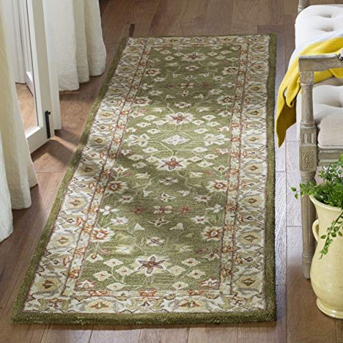 Safavieh Anatolia Collection AN562D Handmade Traditional Oriental Moss and Ivory Wool Runner (2'3