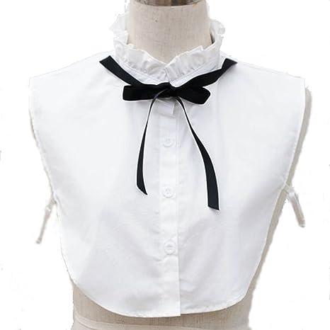 Moda Niña Lazo Cuello de Camisa de algodón con volantes falso cuello falso collar: Amazon.es: Juguetes y juegos