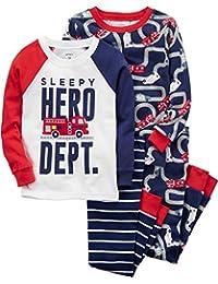 Carter's Boys' 4-Pc. Hero Snug Fit Cotton Pajamas