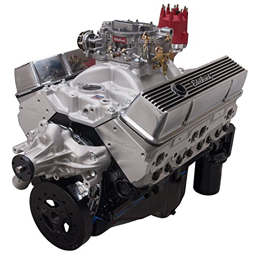 Edelbrock Crate Engines (Edelbrock 46420 Performer 363 Hi-Torq Crate Engine 9.0:1 Compression 353HP/405Torque PerformerEPSVortecManifold/750 CFM Performer Series Carb Elec.Choke w/Long Water Pump PN[8811] Satin Performer 363 Hi-Torq Crate Engine)