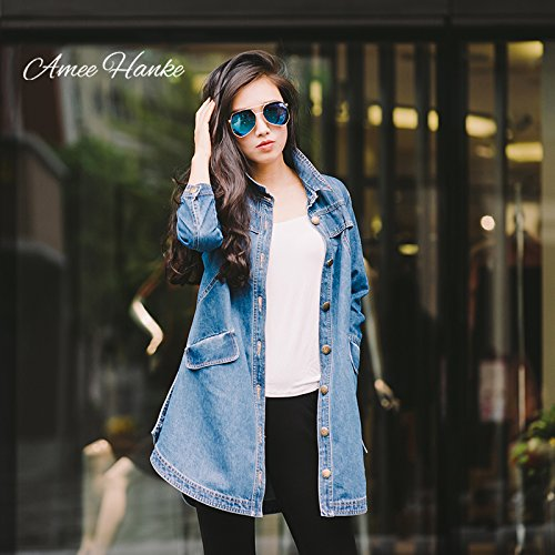 Amee-Hanke-Womens-Long-Denim-Jacket-Spring-Fashion-Jean-Trench-Coat-With-34-Sleeve-Button-Down