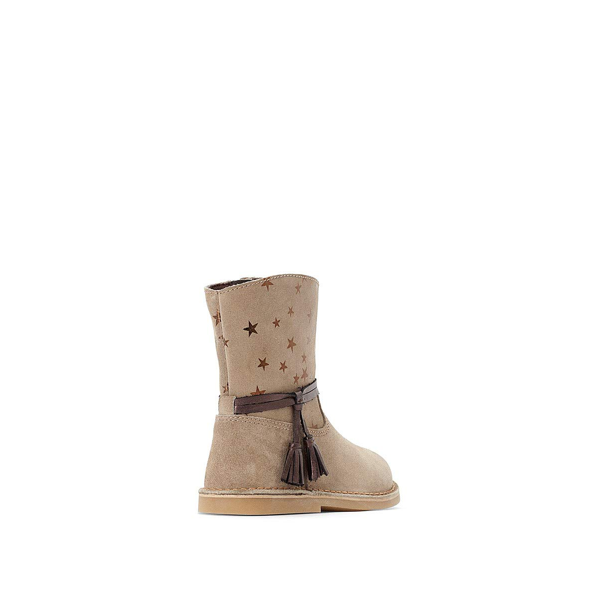 La Redoute Collections Big Girls Leather Boots With Star Design