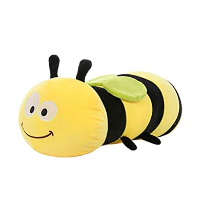 HYL World 17.7 Inches Cute Stuffed Bee Plush Bumblebee Animal Toy Pillow: Home & Kitchen