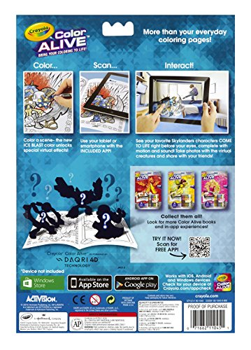 amazoncom crayola color alive action coloring pages combo set skylanders and mythical creatures toys games