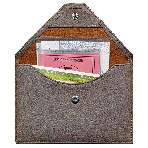 Enveloppe Charmoni Carte De Lutin Grise porte Taupe Permis Conduire Papiers Voiture 4q6IqB