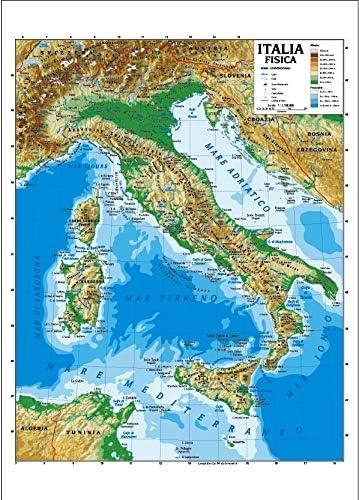 Cartina Italia Amazon.Carta Geografica Murale Italia 100x140 Bifacciale Fisica E Politica Amazon It Cancelleria E Prodotti Per Ufficio