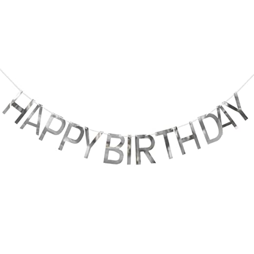 Amosfun - Guirnalda de cumpleaños con letras, decoración ...