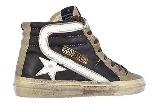 Golden Goose chaussures baskets sneakers hautes femme en cuir slide noir EU 39 G25D124 I6