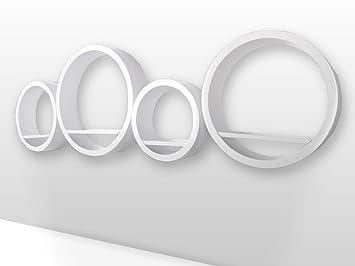 Runde Regale retro design cube 4er set regal mdf regale wandregal deko würfel