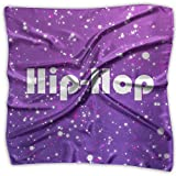 Hiphop Women's Square Polyester Satin Neck Head Scarf Scarves Set