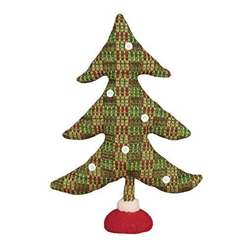 Festive Plaid Fabric Tree 16 Inch Tabletop Christmas (Pinterest Halloween Tree Decorations)