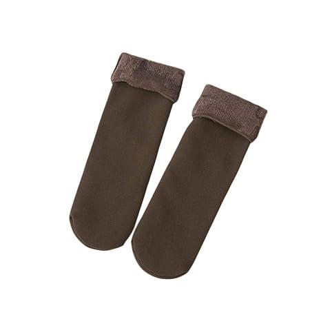Sunsetglow Calcetines de otoño e Invierno Mujer Calcetines de Terciopelo Engrosamiento Calcetines Casuales para el hogar