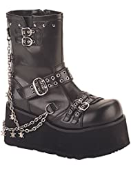Summitfashions 3 1/2 Inch Hot Gothic Ankle Boot With Detachable Chains Punk Boot