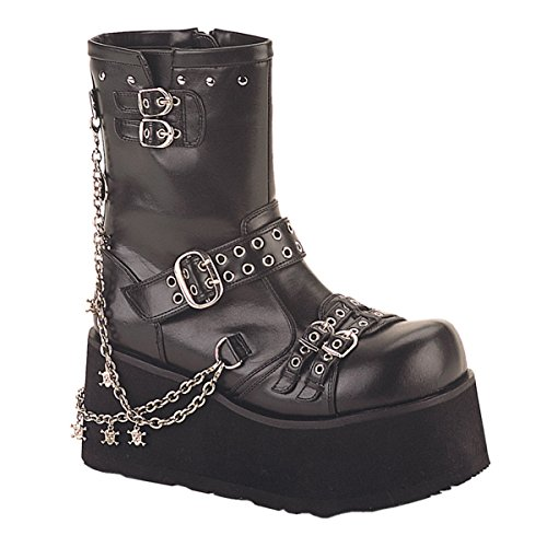 3 1/2 Inch Hot Gothic Ankle Boot With Detachable Chains Punk Boot Size: (Gothic Punk Shoes)