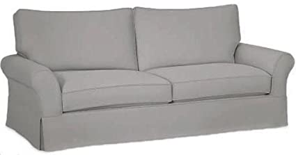 The Cotton Sofa Cover Only Fits Pottery Barn PB Comfort Grand Roll Arm Sofa.  A