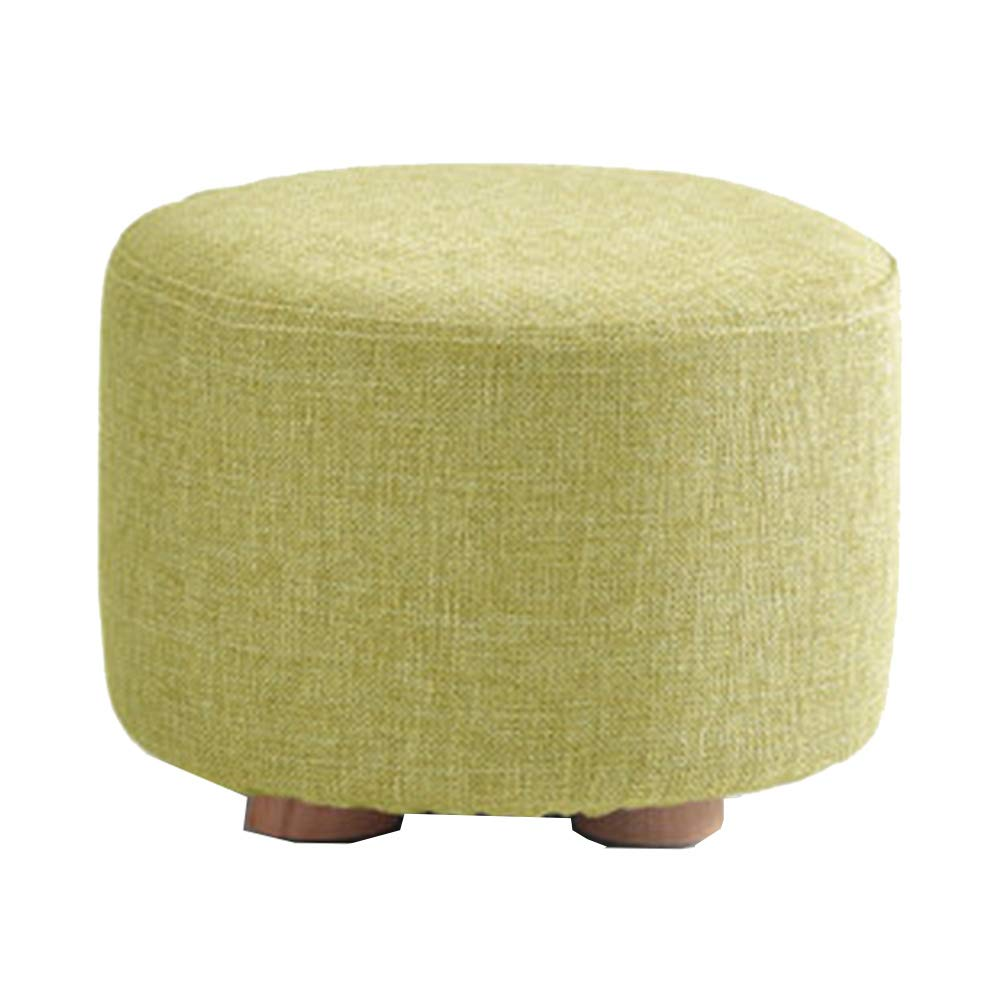 D 2029CM Stool Coffee Table Stool Solid Wood Fabric Stool, Washable, Kitchen Bedroom Living Room,B,20  29CM