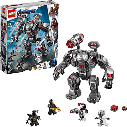LEGO Marvel Avengers War Machine Buster 76124 Building Kit, New 2019 (362 Pieces) (Lego Building Gun)
