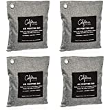 California Home Goods Naturally Activated Bamboo Air Purifying Bag, Charcoal Color 200g 4 pack.