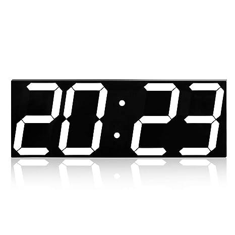 ZQCZ Reloj Digital LED, Reloj Despertador LED Multifunción ...