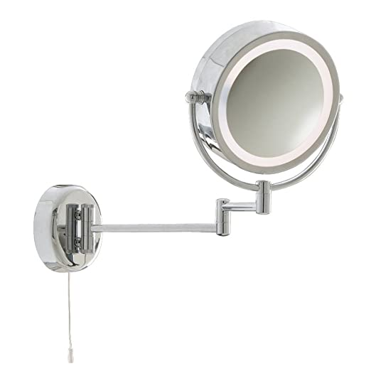 Thlc adjustable and extendable 8 illuminated bathroom vanity thlc adjustable and extendable 8quot illuminated bathroom vanity shaving makeup mirror light aloadofball Gallery