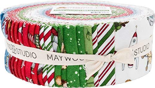 (Kris Lammers Christmas Joys Flannel Strips 40 2.5-inch Strips Jelly Roll Maywood)