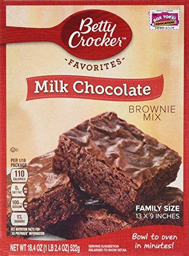 Betty Crocker Chocolate Brownie (Betty Crocker Milk Chocolate Brownie Mix 18.4oz. (Pack of 4 Boxes))