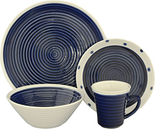 Sango 16 Piece Rico Dinnerware Set, Blue
