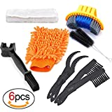 Oumers Bike Cleaning Tools Set (10 Pack), Bicycle Clean Brush Kit Make Mountain, Road, City, Hybrid, BMX and Folding Bike Chain/Crank/Sprcket/Tire Corner Rust Blot Dirt Clean | Durable/Practical
