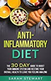 Boost your Immune System, Reduce Inflammation, and Live a Healthier Lifestyle with the 30 Day Anti-inflammatory Diet      Are you suffering from chronic inflammation? Would you like an easy and efficient way to boost your immune system and le...