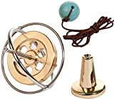 Joytech Precision Gyroscope Metal Balance Toy Brass Holed Silver Rim Spinning Top Gift WK003