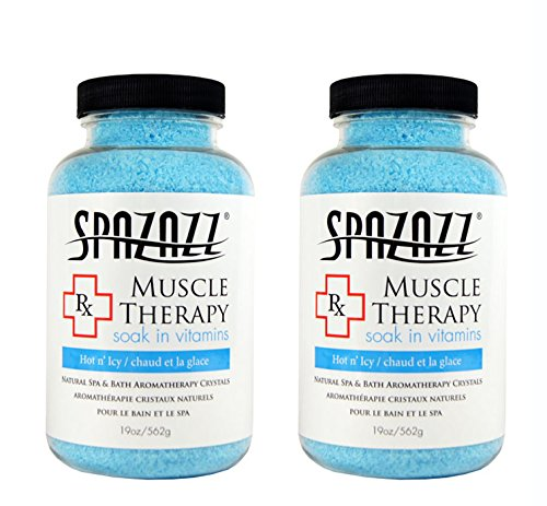 Spazazz Aromatherapy Spa and Bath Crystals -Therapy (2 Pack) (Muscular Therapy 19oz - 2pk)