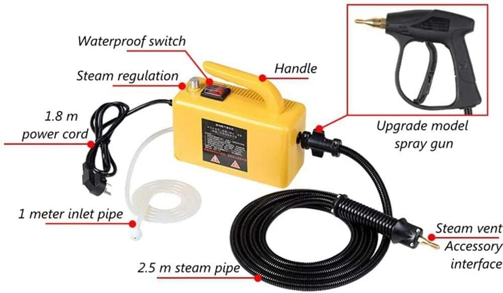 ETH RRR Steam Cleaner Cleaning System Multi-Purpose High Pressure Vapor Steamer Machine Best for Commercial Industrial Home Steam Cleaner