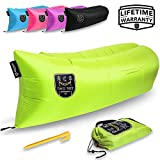 Air Chair Original - Inflatable Lounger! The Hangout Sofa with Outdoor Camping Ripstop Material and The Easiest Pouch Couch to Inflate, Guaranteed! By Two Tree Hammock Co. (Green)