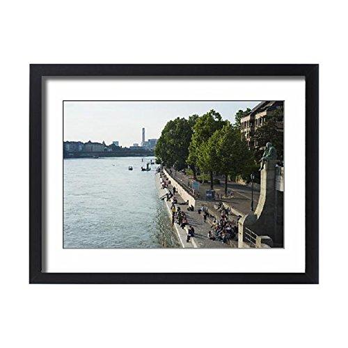 Framed 24x18 Print of The Rhine River, Basel, Switzerland, Europe (8733717) (Framed River Rhine)