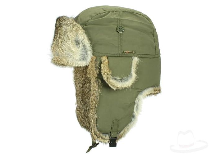 Wigens - Gorro de aviador - para hombre verde 52  Amazon.es  Ropa y  accesorios b16a8c0cd4c