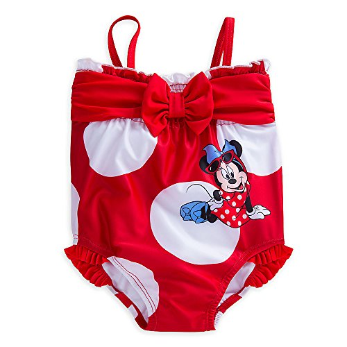 Disney Minnie Mouse Bow Swimsuit for Baby Size 6-9 MO Red (One Disney Piece Swimsuit)