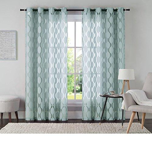 VCNY Home Aria Window Curtain, 54x108, Aqua