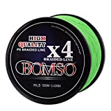 BOMSO 1000m 1094yds 10lbs-60lbs PE Ultra High Molecular Weight Polyethylene(HHMWPE) Dyneema Braided Fishing Line 4 Strands(GE10 For Sale