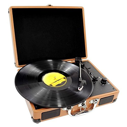 Pyle-Home PVTT2UWD Retro Belt-Drive Turntable with USB-to-PC Connection Sound Around