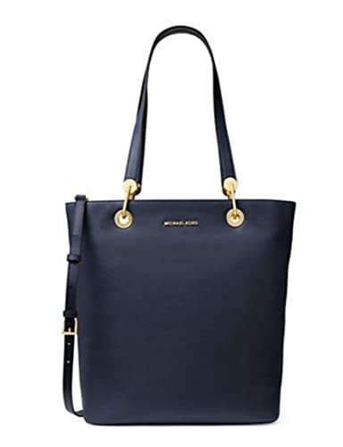 56aff50a87fddf Amazon.com: MICHAEL Michael Kors The Raven Large North-South Top Zip  Leather Tote, Admiral Blue: Shoes