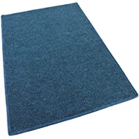 """4x6 - BRIGHT BLUE MULTI - Indoor/Outdoor Area Rug Carpet, Runners & Stair Treads with a Non-Skid Latex Marine backing and Premium Nylon Fabric FINISHED EDGES . Olefin , 3/16"""" Thick + Medium Density. MANY SIZES and Shapes. Rectangles, Squares, Circles, Half Rounds, Ovals, and Runners."""