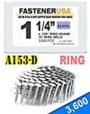 """1 1/4"""" Ring A153-D HOT DIP Coil Roofing Nails"""