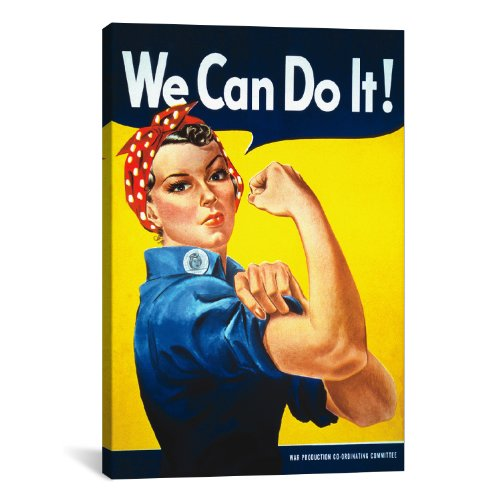 Icanvasart We Can Do It! rosie The Riveter Poster By J. Howard Miller Canvas