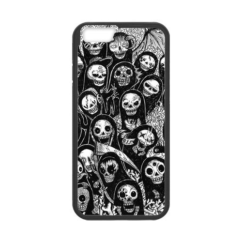 """Fayruz - iPhone 6 Rubber Cases, Day of the Dead Hard Phone Cover for iPhone 6 4.7"""" F-i5G443"""