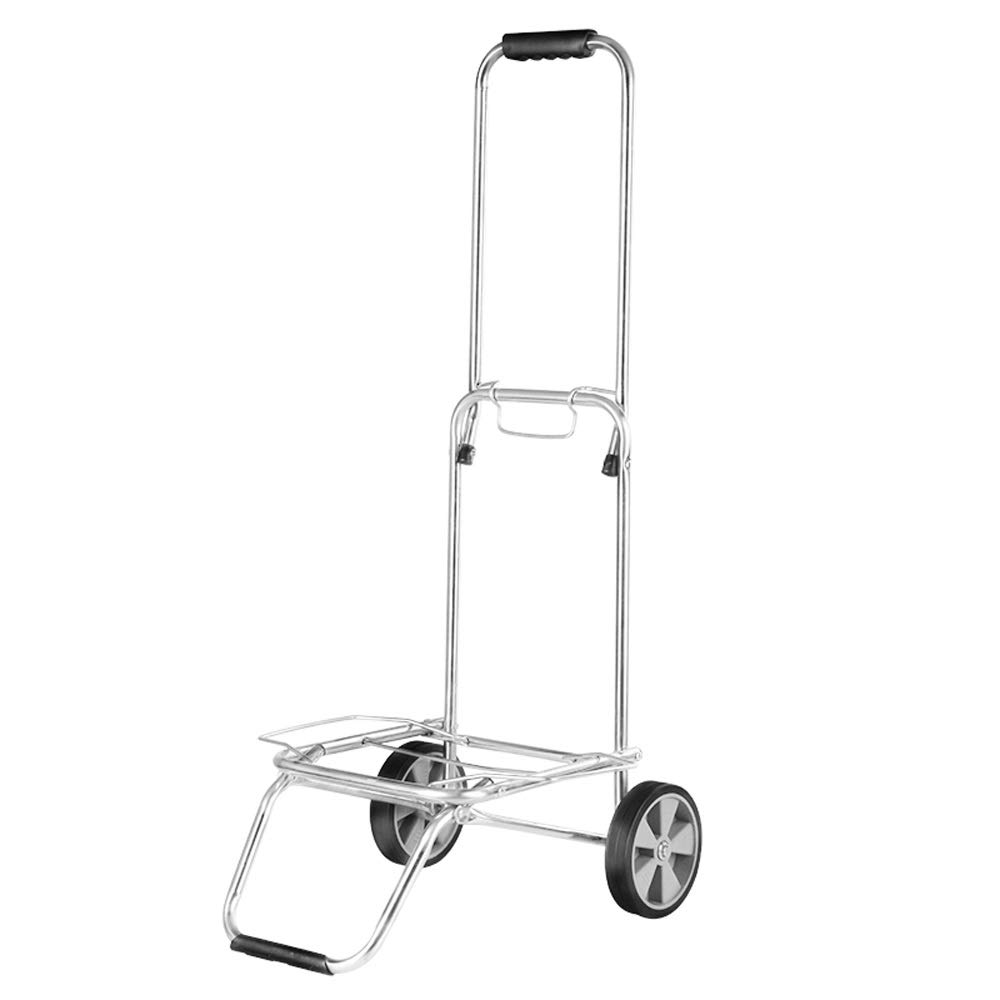 LULIN Stainless Steel Shopping cart Trolley, Home Luggage cart, Shopping, Travel, handling