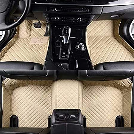 SENHOOM Waterproof Custom Fit Car Front Rear Floor Mats for 2007-2018 Mercedes G Class G350 G500 G550 G55 G63 G65 Luxury XPE Leather Full Coverage All Weather Protection Non-slip Anti-Scratch Auto Floor Liner Carpet Set