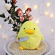 Zzlush Plush Doll Figurine Toy Pet Pillow Animal, 30cm Cartoon Duck with Knife Plush Toy Cute Hamster Animal S