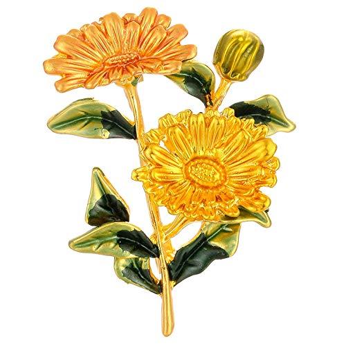 SODIAL Cute Daisy Flower Brooch Brooch Enamel Pins for Women Men Clothes Corsage Wedding Brooch Gift Yellow Green