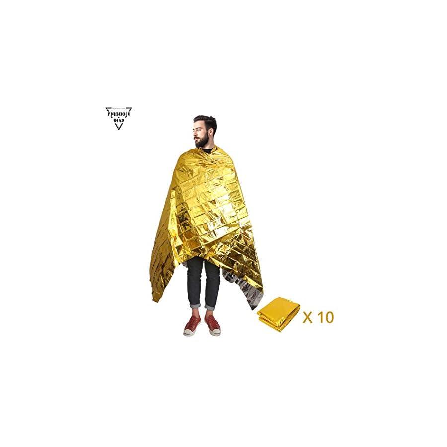 Forbidden Road Emergency Blanket 3 Types First Aid Thermal Survival Foil Blanket Warming for Camping Hiking Backpacking Gold Sliver Orange