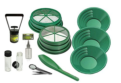 11 pc Prospecting-Mining-Panning Kit- 2- Classifiers 3 Gold Pans,+ MORE!!
